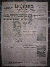 LA GAZZETTA SPORTIVA 24/8/1947  ciclismo  Bartali  vince il Giro della Svizzera