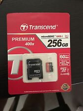 Genuine Transcend Premium Micro SD SDXC Class10 256gb UHS-I 400X TF Card memory