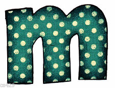 "3"" VINTAGE  ALPHABET  LETTER M NAME MONOGRAM FABRIC APPLIQUE IRON ON"