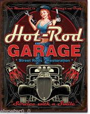 Blechschild 31 x 40, Hot Rod Garage - Pistons, USA Werbeschild Art. #1990