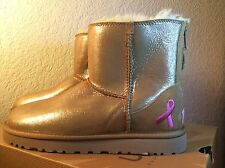 New Ugg Shiny Classic Breast Cancer Chestnut Boot Sz Us 10