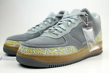 $150 RETAIL AJF 3 NIKE JORDAN X AIR FORCE 1 SZ 12 FLINT GREY VARSITY MAIZE SILVE