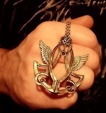 Amulett steampunk wings Flügel gothic art deco alchemie Kette Anhänger celtic