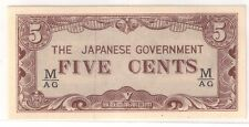 5 Cents Malaya Japanese Invasion (JIM), fractional block M-AG (UNC)