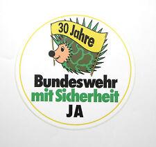 IGEL/HEDGEHOG Aufkleber Sticker BUNDESWEHR 30 JAHRE