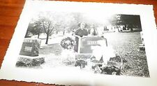 Gorgeous Antique Photograph Man and Woman At Cemetary By Gravesite