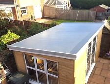 Complete single Garage Winter GRP Roof kit Inc Trims and Tools