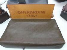 GHERARDINI Pochette-Borsa pelle e tessuto marrone-Clutch Bag LEATHER AND FABRIC