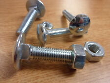 25 No M12 x 250mm, Cup Sq Hex, Coach Bolts, Complete with Nuts, B.Z.P.