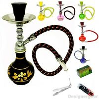 8' Mini Shisha Small Hookah Sheesha Smoking Pipe Pink Black Green Yellow Blue