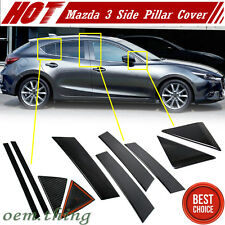 Carbon For Mazda 3 3rd Sedan Hatchback Side Door Pillar Post Cover Trim 2016