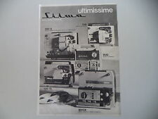 advertising Pubblicità 1969 SILMA 128/250 S/DUO/120 SL/BIVOX