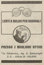 Z2140 La Filotecnica Ing. Salmoiraghi - Lenti a bulbo - Pubblicità d'epoca - Adv