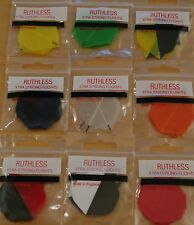 "10 Sets (10X3) ""Assorted"" Transparent R4X Extra Strong Ruthless Dart Flights"