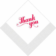 100 Thank You Personalized Wedding Dinner Napkins