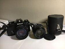 Nikon EM 35mm SLR Film Camera con lente extra 28mm