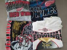 Vintage lot of 4 1990's Detroit Red Wings T Shirts  NHL HOCKEY