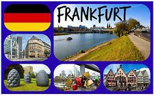 FRANKFURT, GERMANY - SOUVENIR NOVELTY FRIDGE MAGNET - NEW - GIFT / XMAS