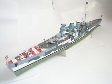 World War II Italy Giuseppe Garibaldi light cruiser Paper Model Kit