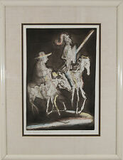 """Irving Amen (b.1918) American """"Knight and Squire"""" signed Lithograph Print"""