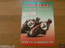 1997 DUCATI CLUBRACES CIRCUIT ASSEN PROGRAMMA,DUCATI CLUB NEDERLAND