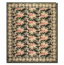 8x10 NEW STUNNING HANDMADE FRENCH NEEDLEPOINT RUG - AUBUSSON 100% WOOL
