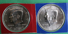 2007 P & D Kennedy Half Dollar Coin from US Mint Set 2 BU Cello Fifty Cent UNC
