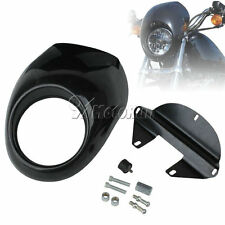 Black Headlight Fairing Mask Front Cowl For Harley Sportster Dyna FX XL 883 1200