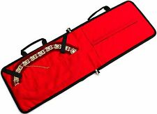 DEURA TOP Quality Masonic Regalia Soft Case Collar Apron Holder RED Bag ~~~