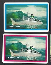 Playing Swap Cards 2 GENUINE  VINT SHIPPING / STEAMSHIP ADVT FOR GRACE LINE #115