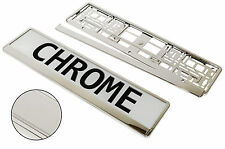 SuperB CHROME Frame - Pair of PLASTIC Number Plate Frame Holders License Plate