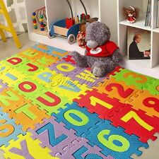 36pc Baby Kid Room Numbers EPE Foam Crawl Playing Floor Mat Tiles Jigsaw Puzzle