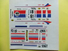 DECAL  143 -PORSCHE # 61+ 55  BRUMOS ' 76   '78 -Cartograf ??