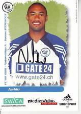 FOOTBALL carte joueur NALDO équipe FC WIL 1900 signée