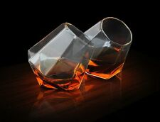Thumbs Up DIAMOND Whiskey GLASSES - Spirit Drinking Tumbler - Set of 2