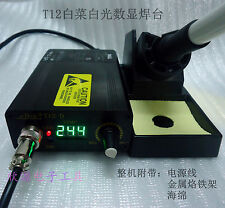 220V 110V LED Digital Soldering Iron Station Temperature Controller + T12 Handle