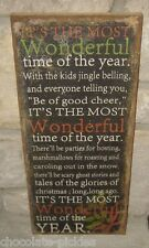 Burlap CHRISTMAS PICTURE Sign*Wall/Mantel/Shelf*Primitive/French Country Decor