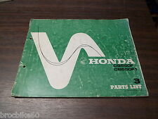 PARTS LIST HONDA CB 550 FOUR F1 1976-  listing de pieces détachées CB550F CB550