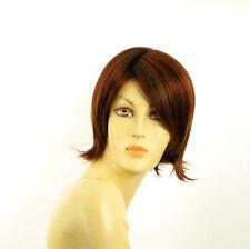 Perruque femme courte Châtain Cuivré Méché Blond Clair/rouge ROSY 33H130
