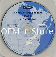 2003 LINCOLN NAVIGATOR SPORT NAVIGATION MAP DISC CD 8 MID CENTRAL KY OH PA NY IN