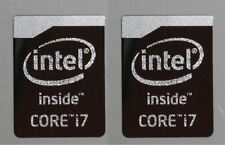 2x Intel Core i7 Chrome Metal Sticker / Haswell Case Badge Stickers USA Seller!