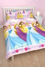 DISNEY PRINCESS ENCHANTING DOUBLE DUVET QUILT COVER REVERSIBLE BEDDING SET