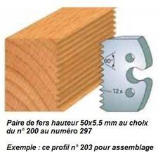 Jeux de fers hauteur 50x5.5 mm - Tous numéros de 200 à 297 au choix !