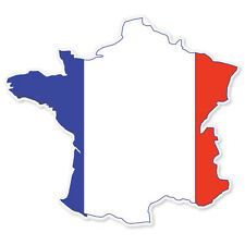 """FRANCE French Map Flag bumper sticker decal 4"""" x 4"""""""