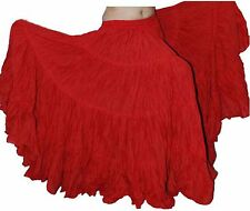 Tribal bellydance ats 25 yard gypsy cotton skirts - Red Color store333