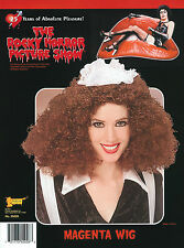 MAGENTA WIG CURLY BROWN WIG ROCKY #HORROR SHOW HALLOWEEN FANCY DRESS ACCESSORY