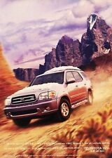 2001 Toyota Sequoia Original Advertisement Print Art Car Ad J589