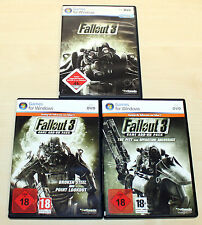 Fallout 3 & 2 add on pack the Pitt Operazione Anchorage BROKEN STEEL POINT-PC