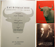 TAUROMACHIE/BIOGRAPHIE D UNE COURSE/E.LLOVET/ED ART ET INDUSTRIE/1957/PHOTOS