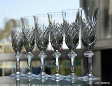 Cristallerie croix ‡ Lorraine Lemberg 6 flûtes champagne cristal taillé signée